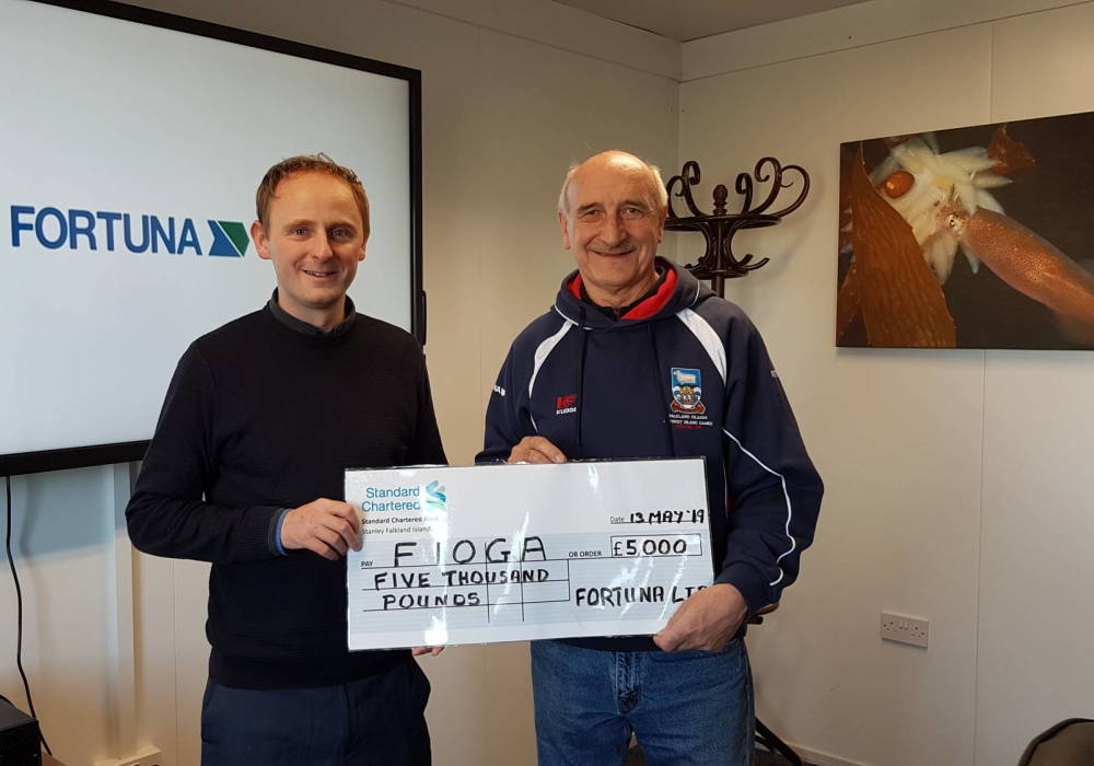 GM Fortuna hands over cheque