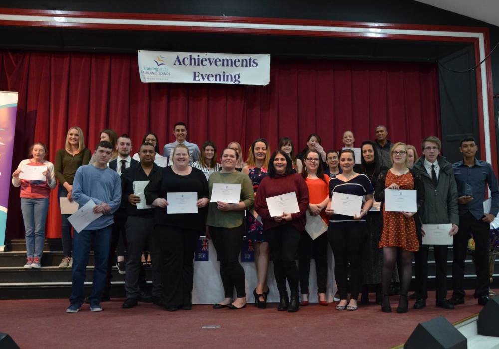 Proud achievers at the awards evening