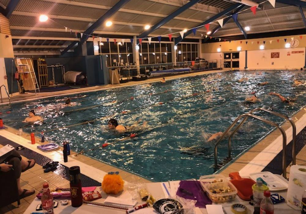 The swimathon well under way