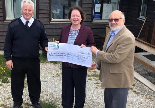 Beauchene Fishing Company Limited Donation of £20,000 to Lighthouse Seafarer's Mission