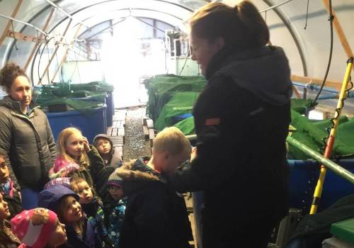 Falkland Fish Company introduce children to the industry